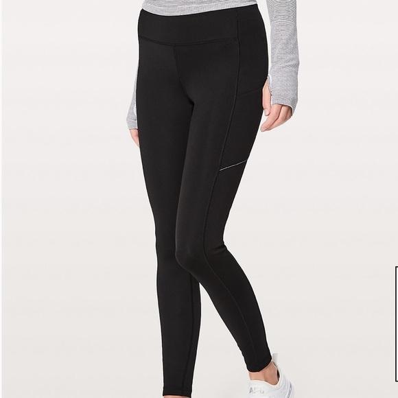 7b21ff75f45f9 lululemon athletica Pants | Lululemon Speed Up Tights Tech Fleece ...